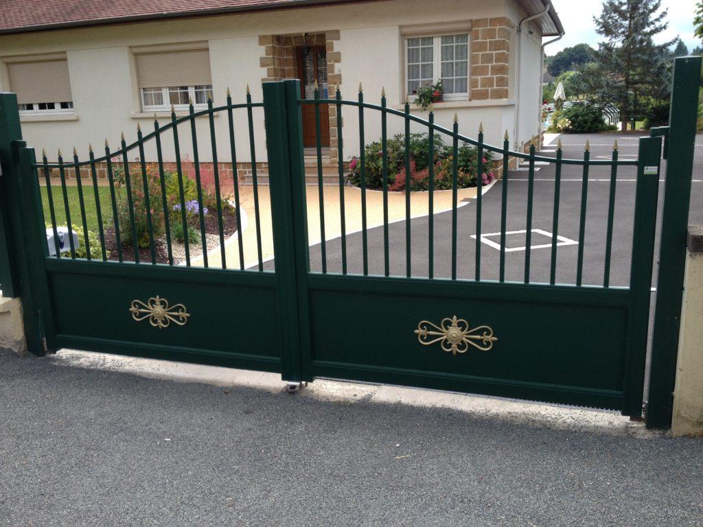 Portail Aluminium imitation fer forgé Appiano