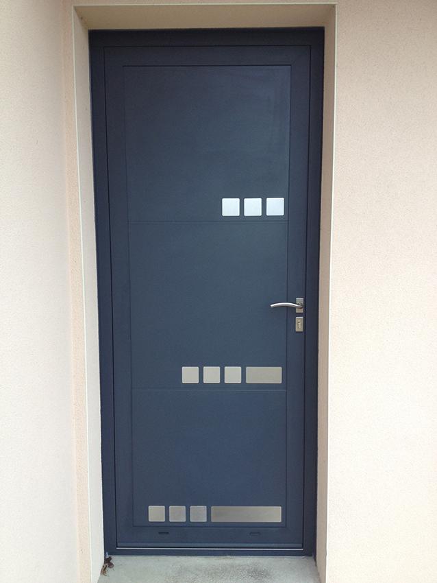 Porte d'entrée aluminium contemporain Appiano